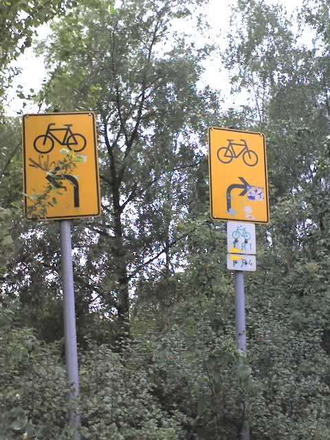 fahrrad weg schilder