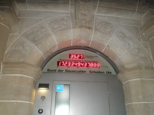 Schuldenuhr Deutschlands in Berlin