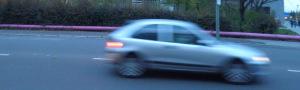 Auto in Fahrt
