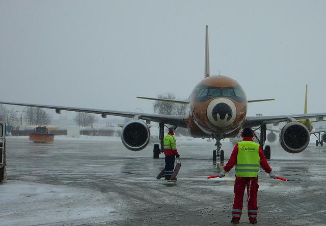 Berliner Flughafen im Winter