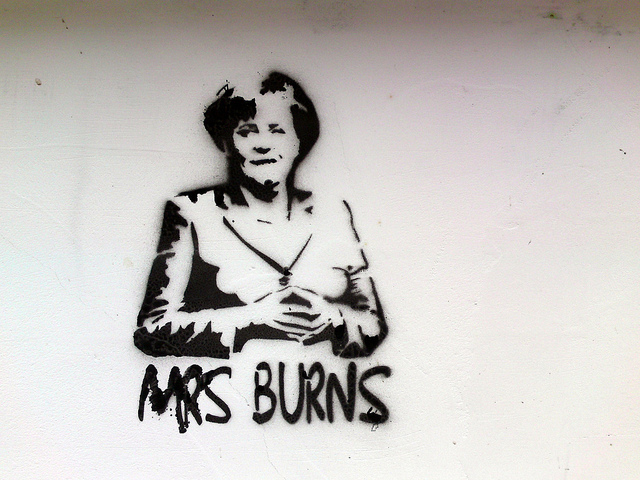 merkel in burns position