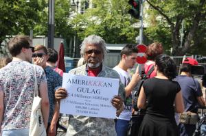 Demo Schwarzer Bürgerrechtler