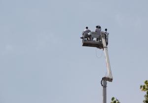 Kamera in der Luft Obama Besuch Berlin