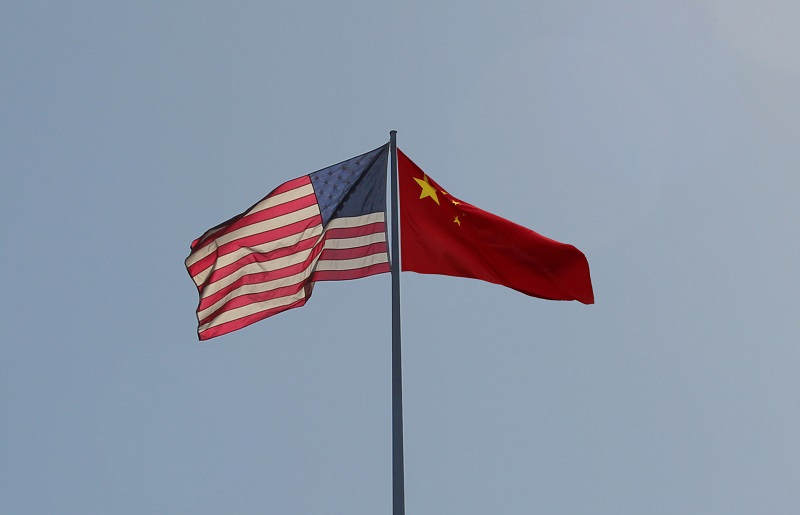 US VR China Flaggen