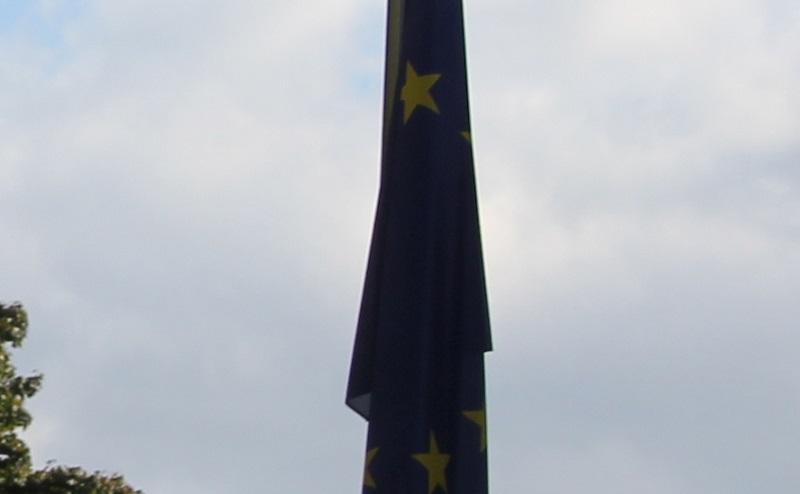 Schlaffe Europa Flagge