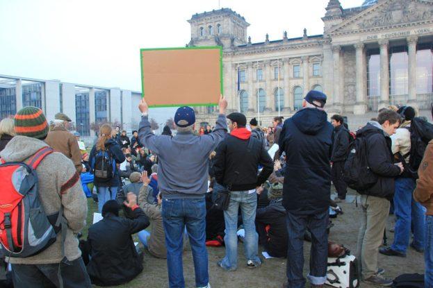 Demo vor Bundestag