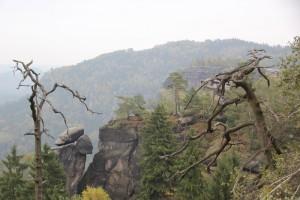 Ausblick Elbsandsteingebirge