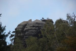 Ausblick auf Felsformationen Elbsandsteingebirge