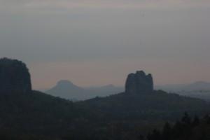 Berge im Elbsandsteingebirge