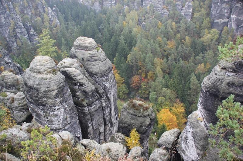 Blick ins Elbsandsteingebirgstal