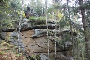 Felsformation Elbsandsteingebirge