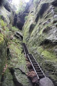 Steiler Aufstieg Wanderweg