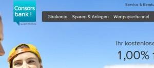 Screenshot Consorsbank
