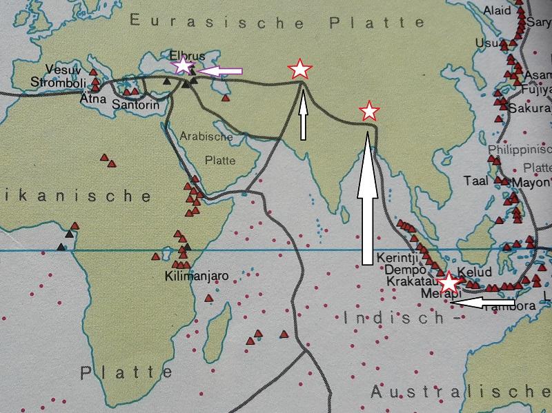 Platten Tektonik These Karte