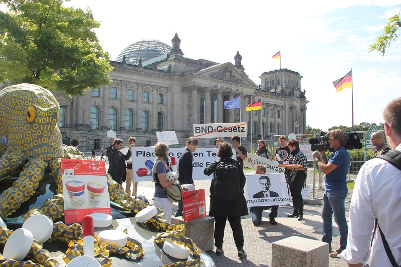 Demonstration Digitalcourage vor Bundestag