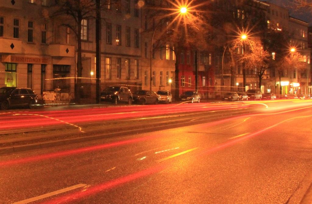 Autoverkehr nachts