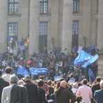 Frankreich bleibt in der EU - Pulse of Europe Demo Berlin