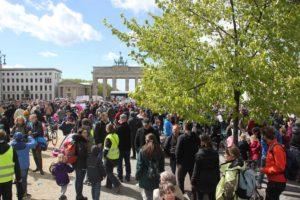 March of Science vor Brandenburger Tor