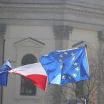 Verbundene Fahne EU Polen - Pulse of Europe Demo Berlin