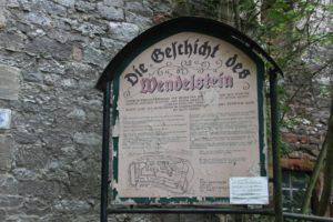 Burgtafel Wendelstein mit Grundriss
