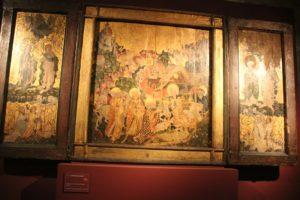 Gotischer Altar mit Fluegel Naumburger Dom