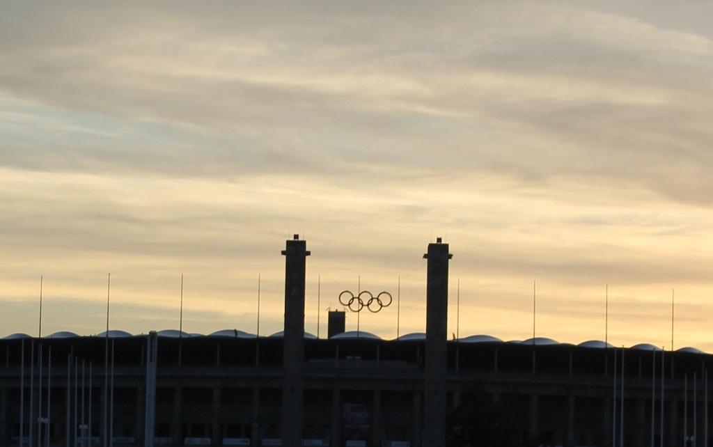 Olympische Ringe Stadion Berlin