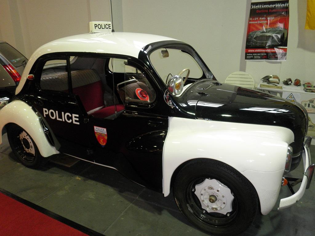 Comic Polizei Auto