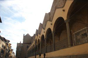 Arkaden Eingang Santa Croce Florenz