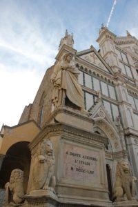 Denkmal Dante Santa Croce Florenz