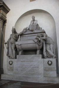 Denkmal Dante in Santa Croce Florenz