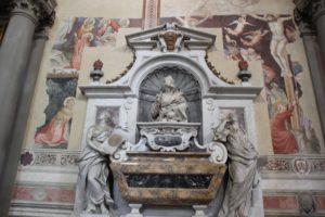 Grabmal Galileo Santa Croce Florenz