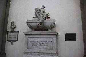 Grabmal Machiavelli Santa Croce Florenz
