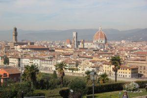 Postkartenbild Florenz vom Piazzale Michelangelo