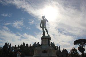 Statue Kopie David Florenz Piazzale Michelangelo
