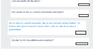 Chatprotokoll o2 Service