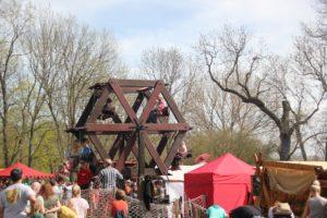 Historischen Riesenrad Ritterfest Diedersdorf
