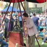 Manuelles Kinderkarussell Ritterfest Diedersdorf