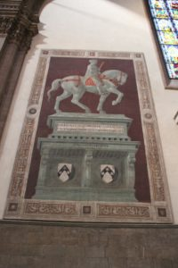 Kathedrale Florenz Reiterbild 2