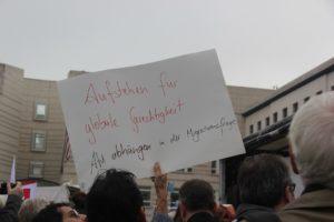 Aufstehen Kundgebung Plakat