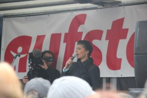 Aufstehen Kundgebung Rede Sahra Wagenknecht