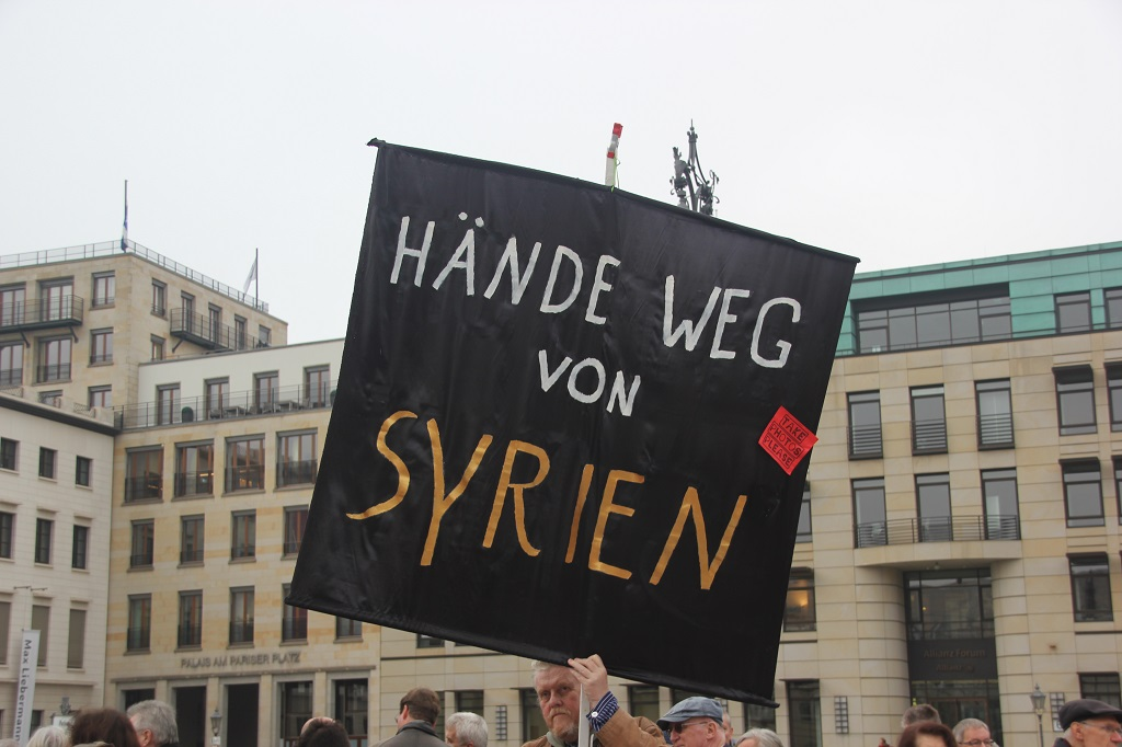 Aufstehen Kundgebung Syrien