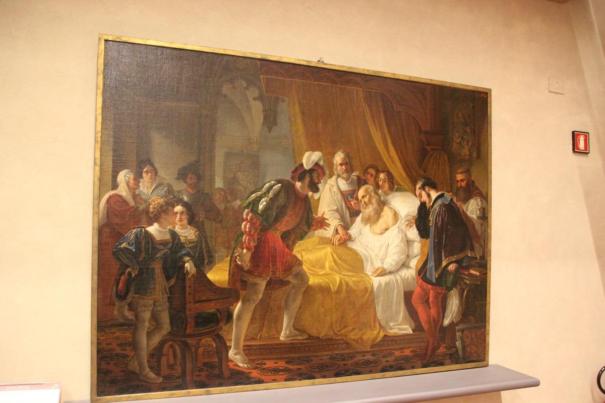 24 Tod Leonardo DaVinci Malerei Galleria dell'Accademia Florenz.JPG