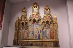 34 Gotisches Altarblatt Galleria dell'Accademia Florenz