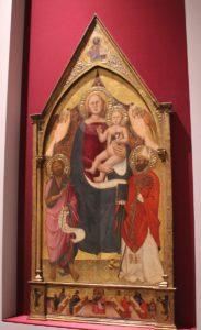 35 Gotische Marien-Jesu-Darstellung Galleria dell'Accademia Florenz