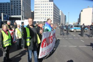 Aufstehen Demo 16-Februar-2019 Berlin Demonstrationszug 1