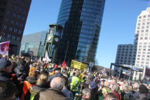 Aufstehen Demo 16-Februar-2019 Berlin Potsdamer Platz 3