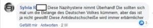 Nazi Spruch auf Facebook