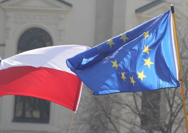 Flaggen EU Polen