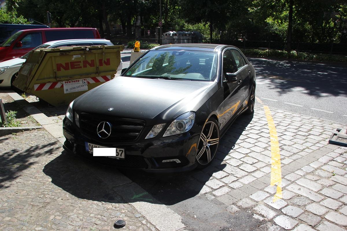 Parken auf Radweg